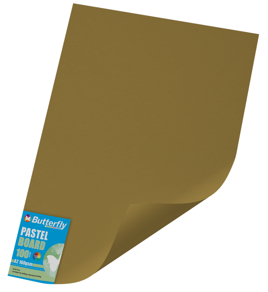 A2 Pastel Board - Pack of 100 Gold