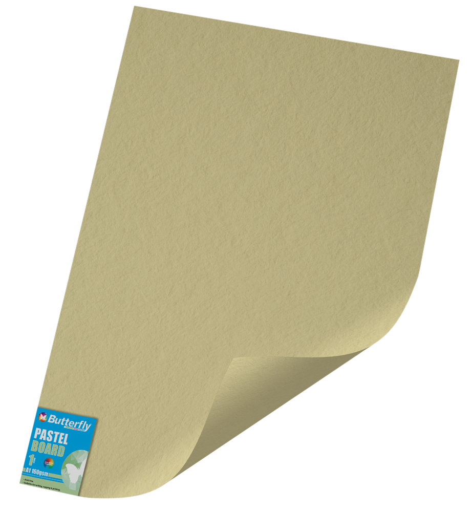 A1 Pastel Board - 160gsm Single Unwrapped Buff