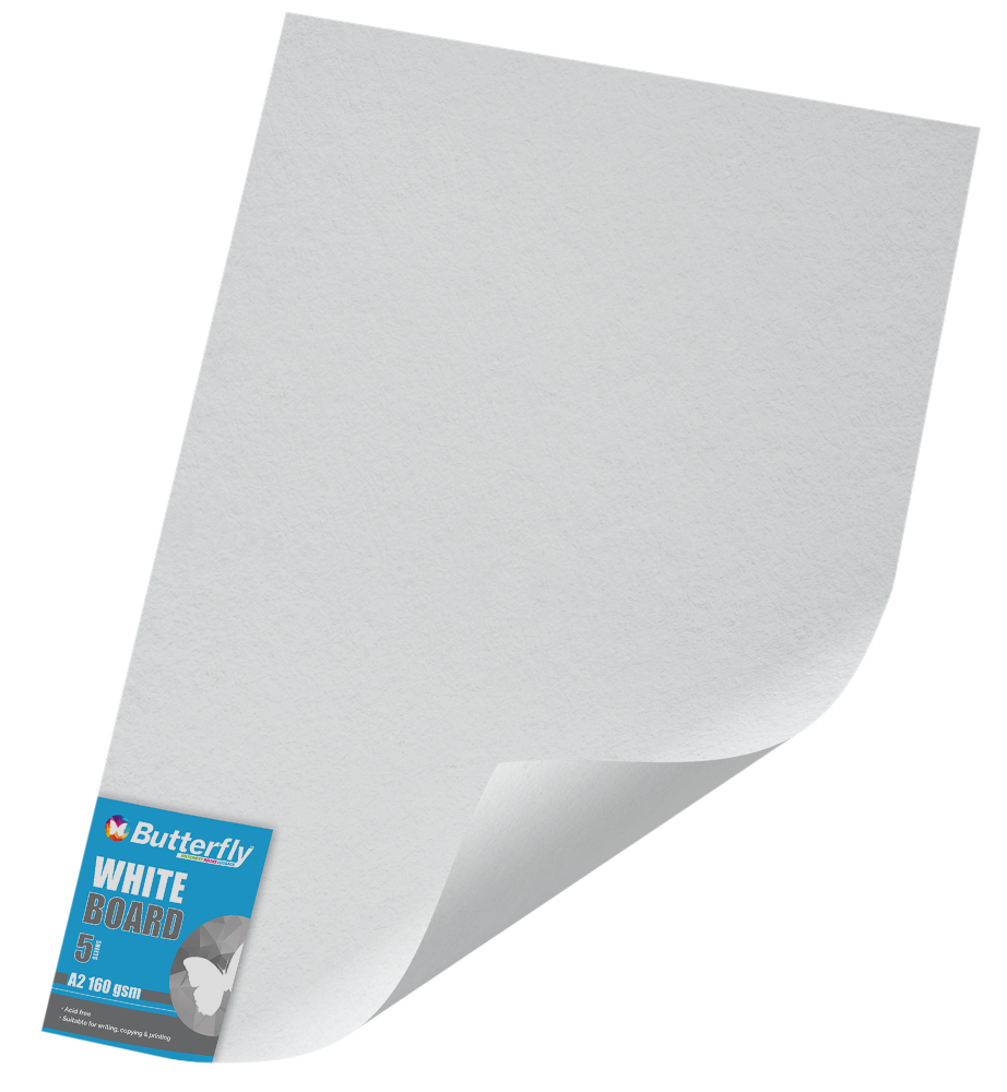 A1 Pastel Board - 160gsm Single Unwrapped White