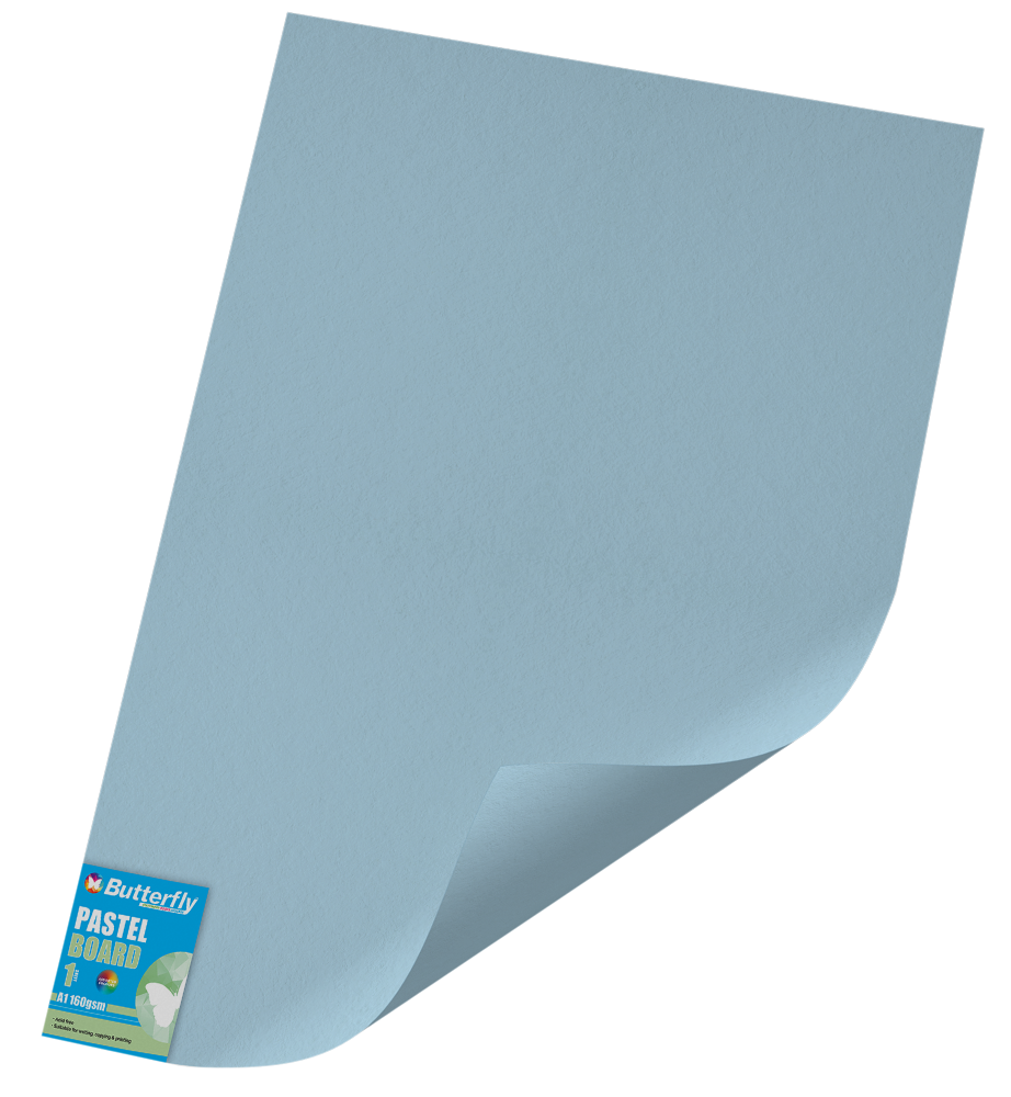 A1 Pastel Board - 160gsm Single Wrapped Blue