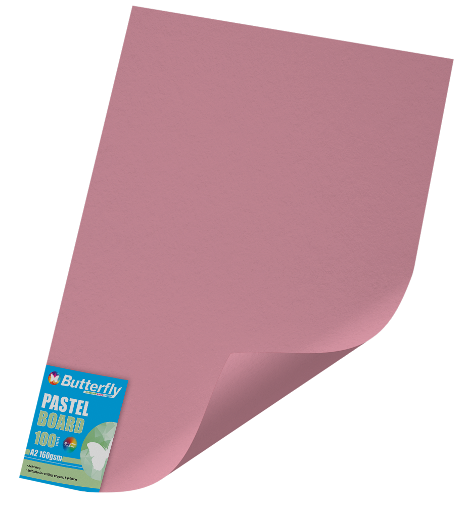 A2 Pastel Board - Pack of 100 Pink