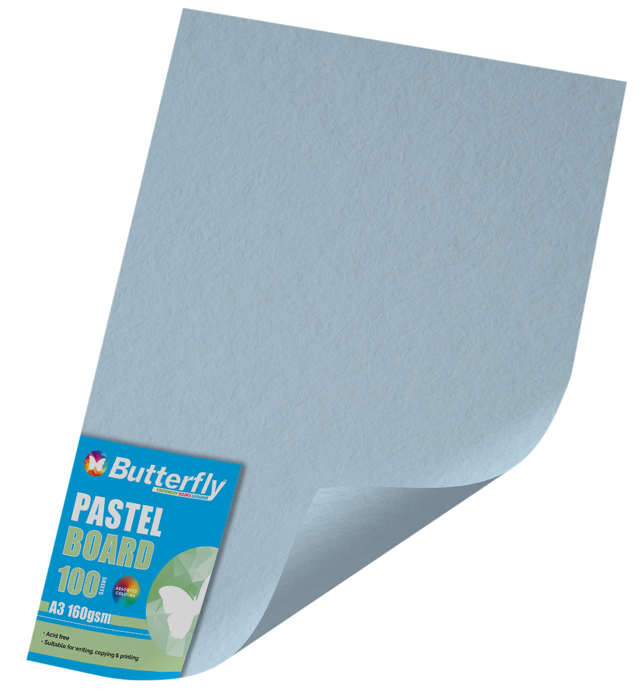 A3 Pastel Board - Pack of 100 Blue