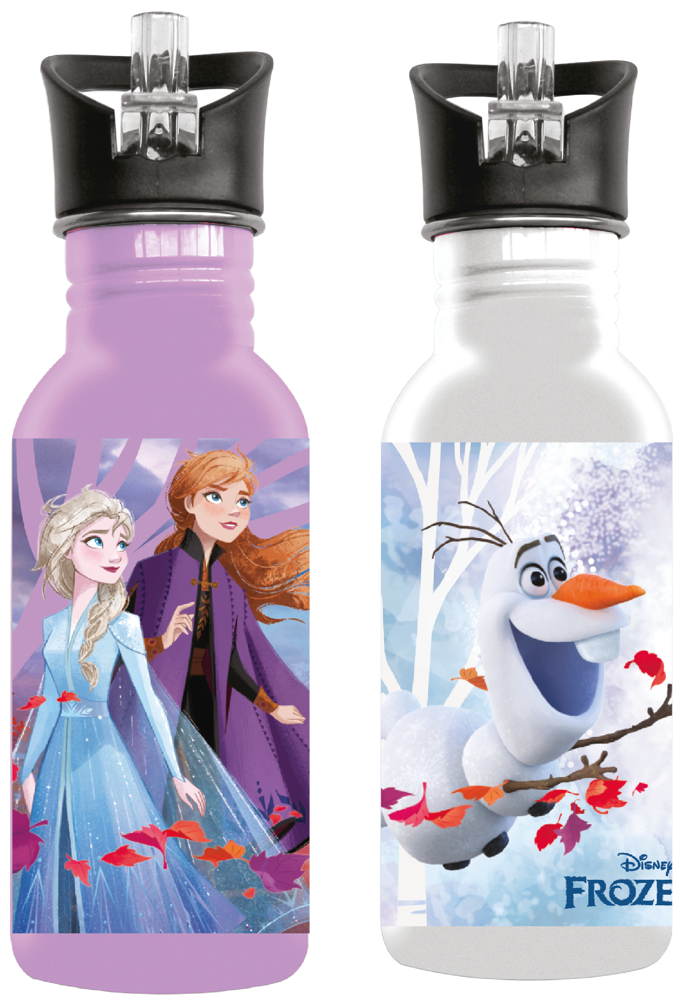 Disney Frozen Aluminium Drinking Bottles (You Get 1 of 2 Designs)