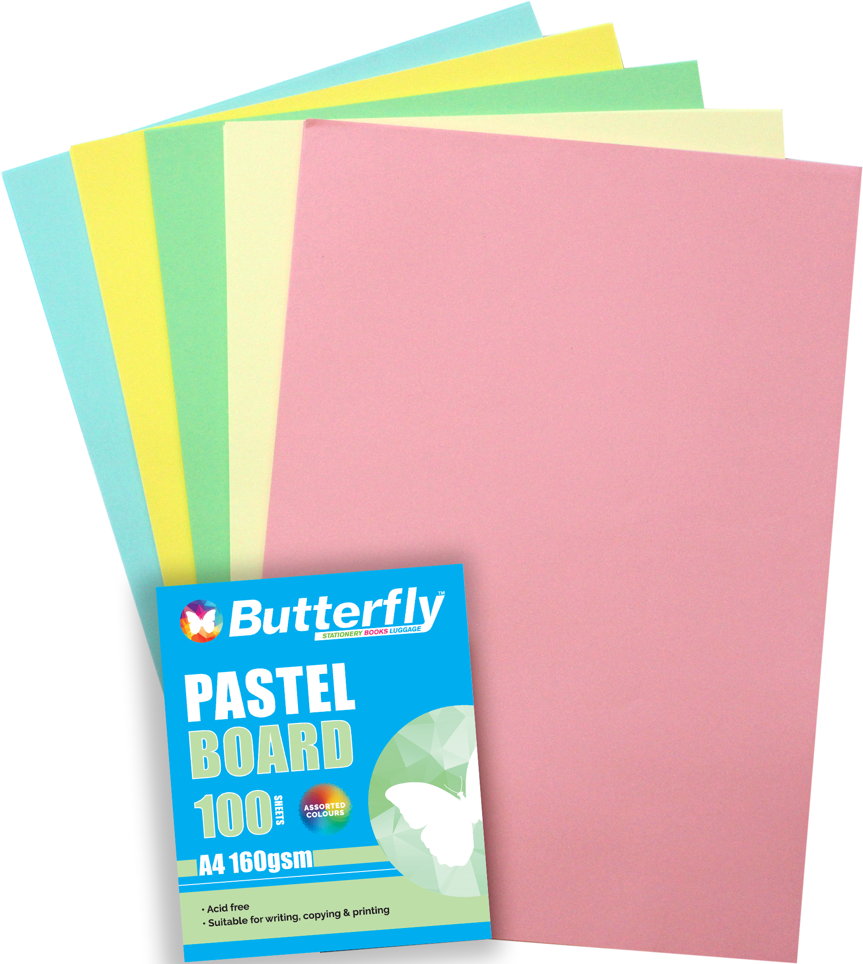 Mixed A4 Pastel Board - Pack of 100