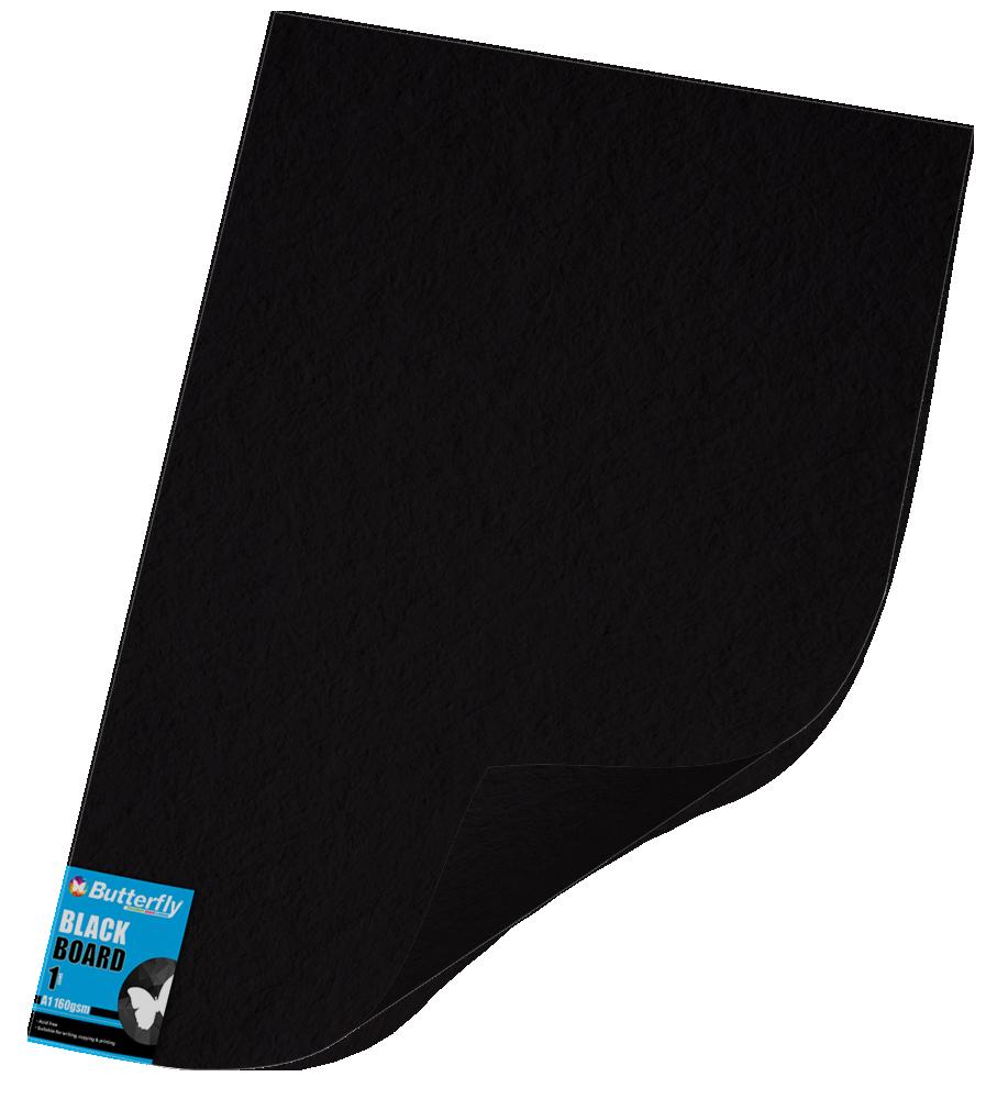 A1 Bright Board - 160gsm Single Unwrapped Black