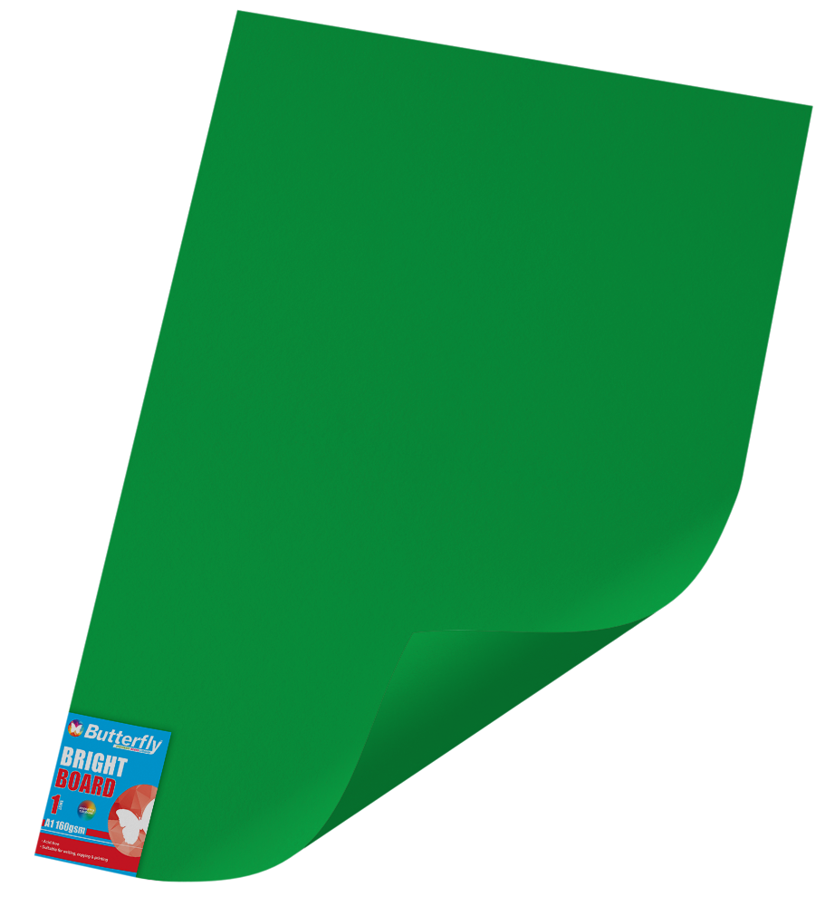 A1 Bright Board - 160gsm Single Wrapped Green
