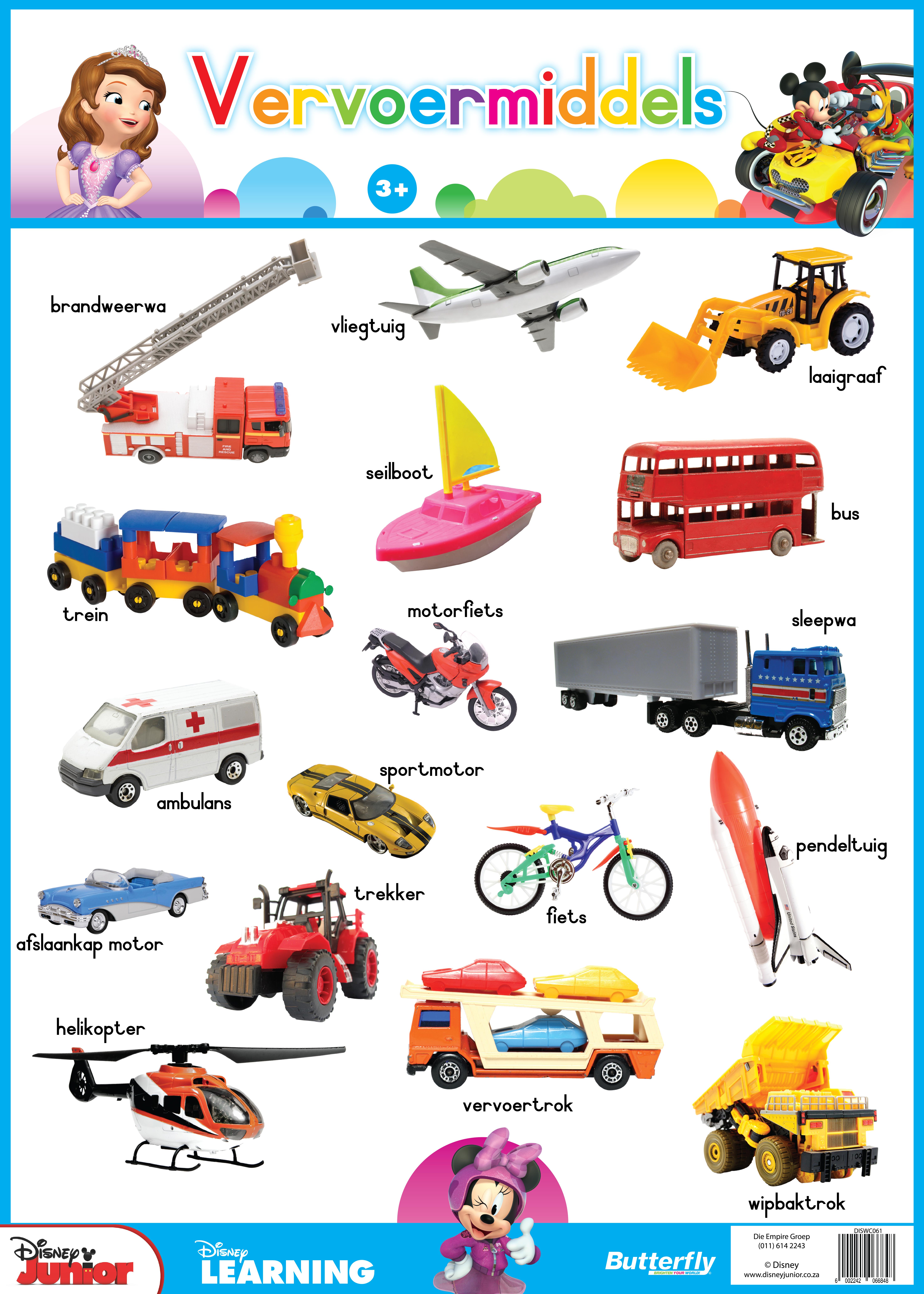 Disney Plakkaat - Vervoermiddels