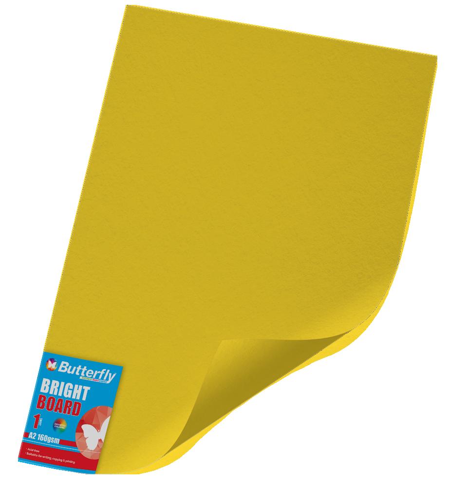 A2 Bright Board - 160gsm Single Yellow