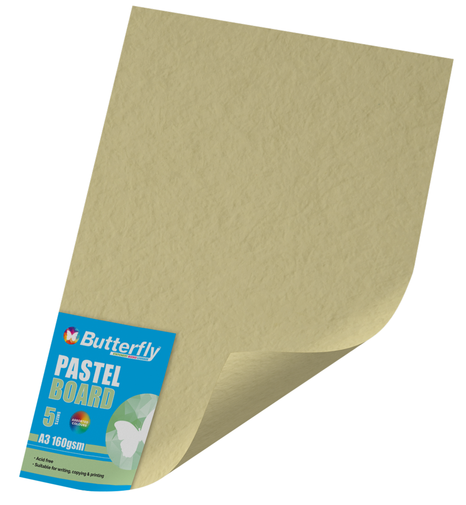 A3 Pastel Board - Pack of 5 Buff