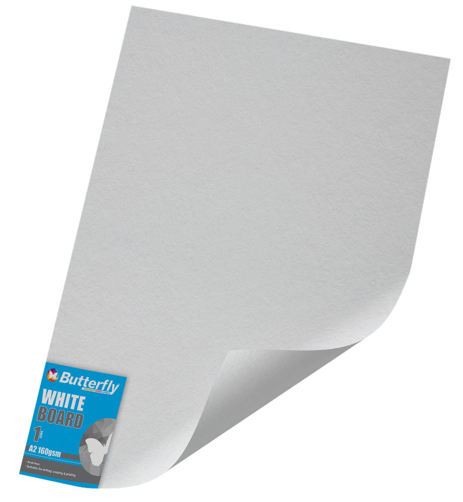 A2 Pastel Board - 160gsm Single Wrapped White