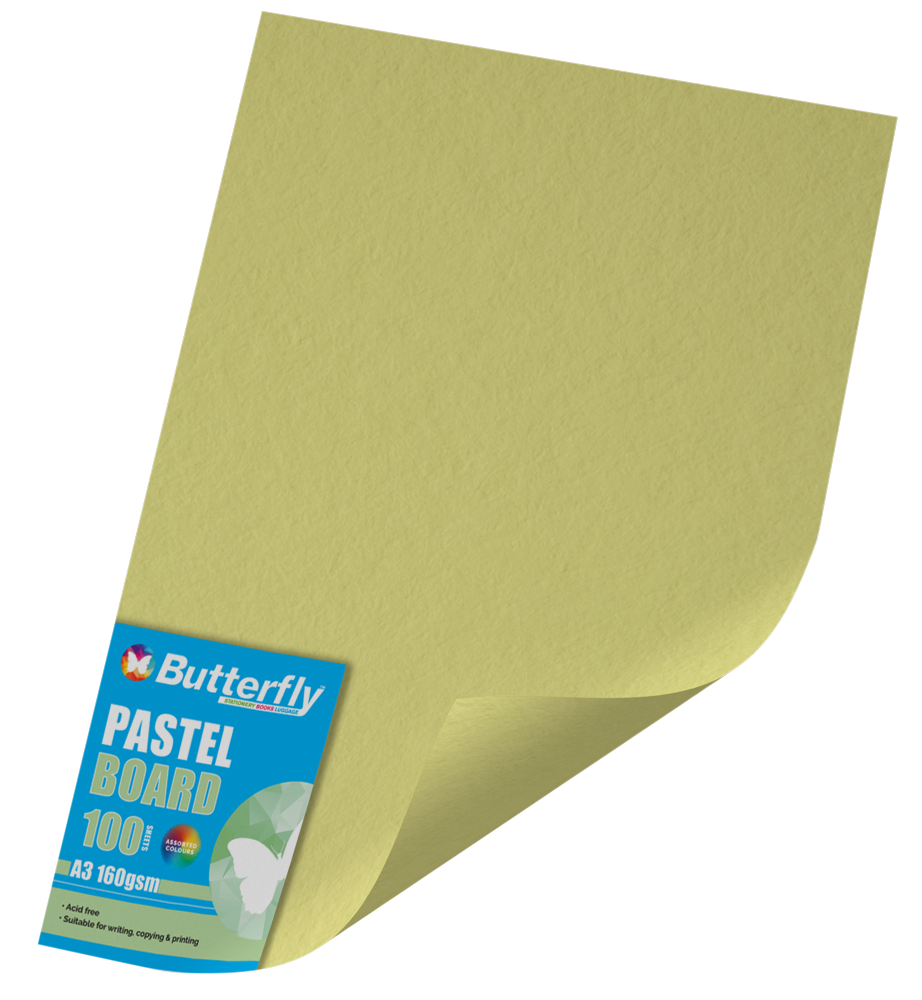 A1 Bright Board - 160gsm Single Wrapped Yellow