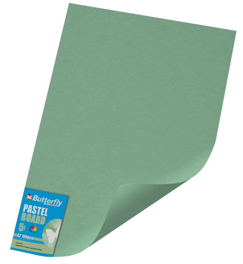 A2 Pastel Board - Pack of 5 Green