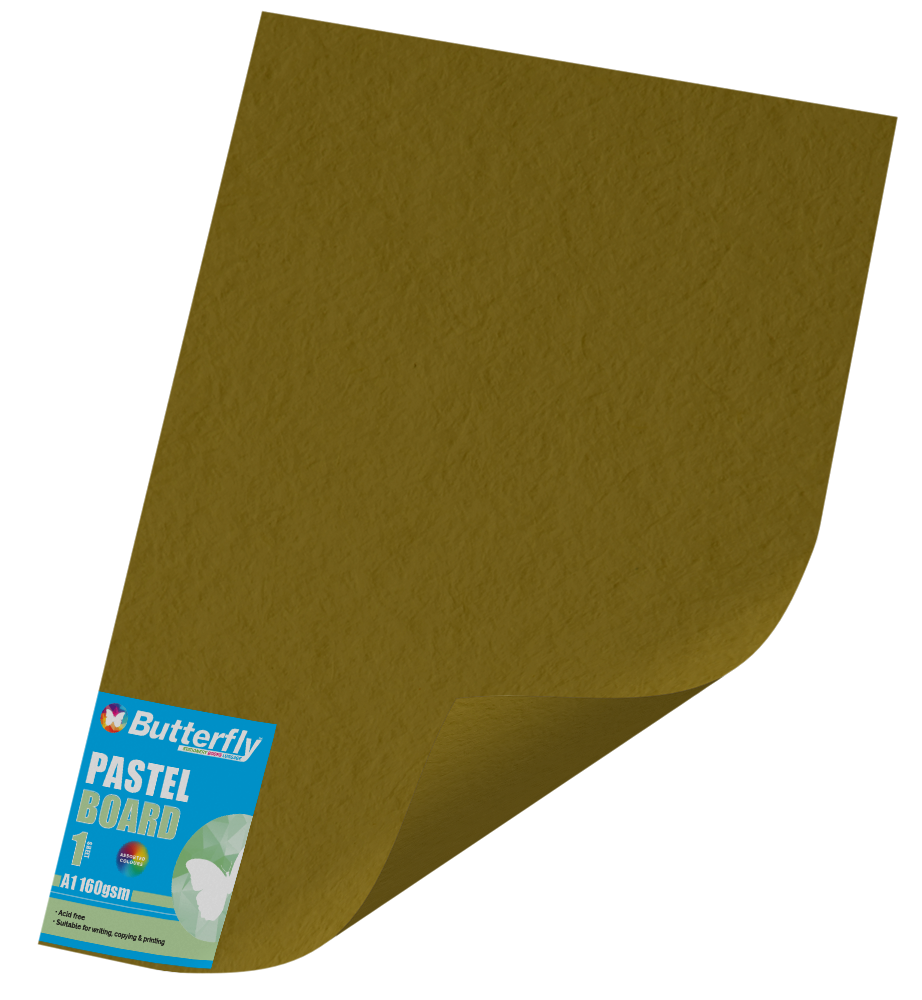 A1 Pastel Board - 160gsm Single Wrapped Gold