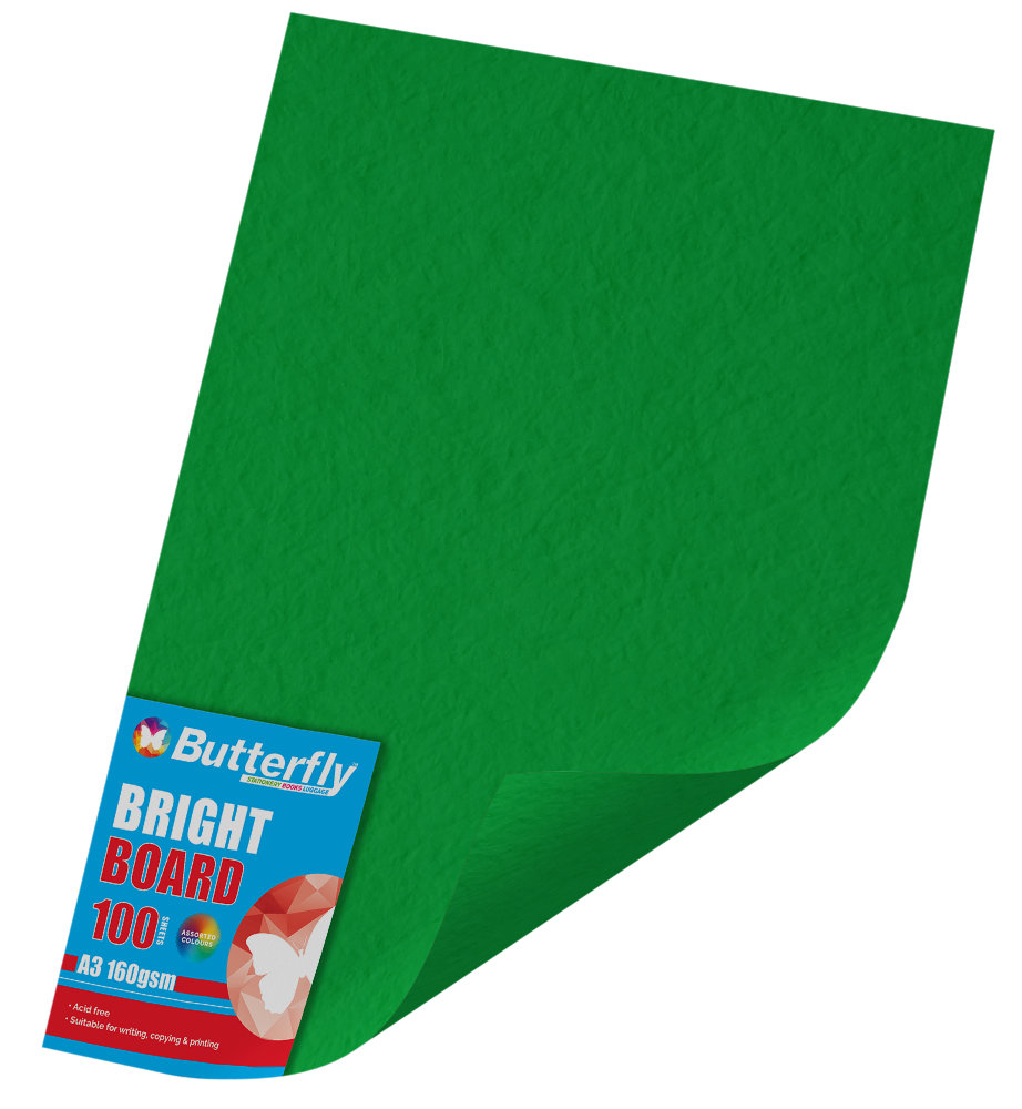 A3 Bright Board - Pack of 100 Green