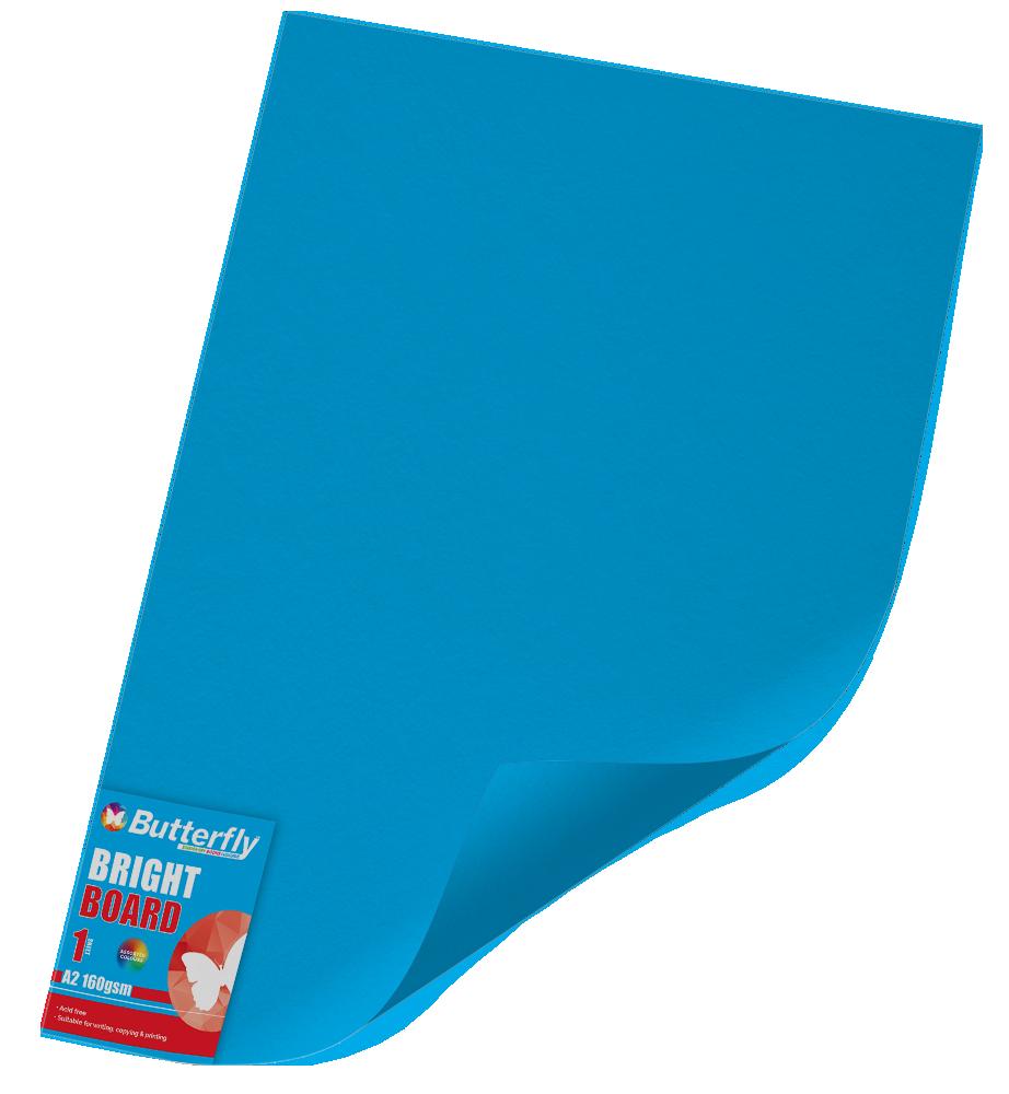A2 Bright Board - 160gsm Single Blue