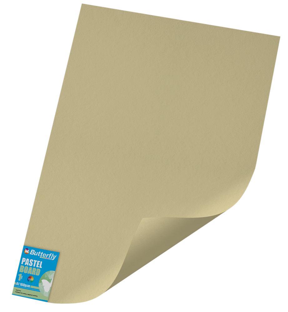 A1 Pastel Board - 160gsm Single Wrapped Buff