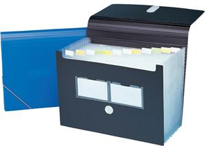 Bantex 13 Compartment Expanding File - Black