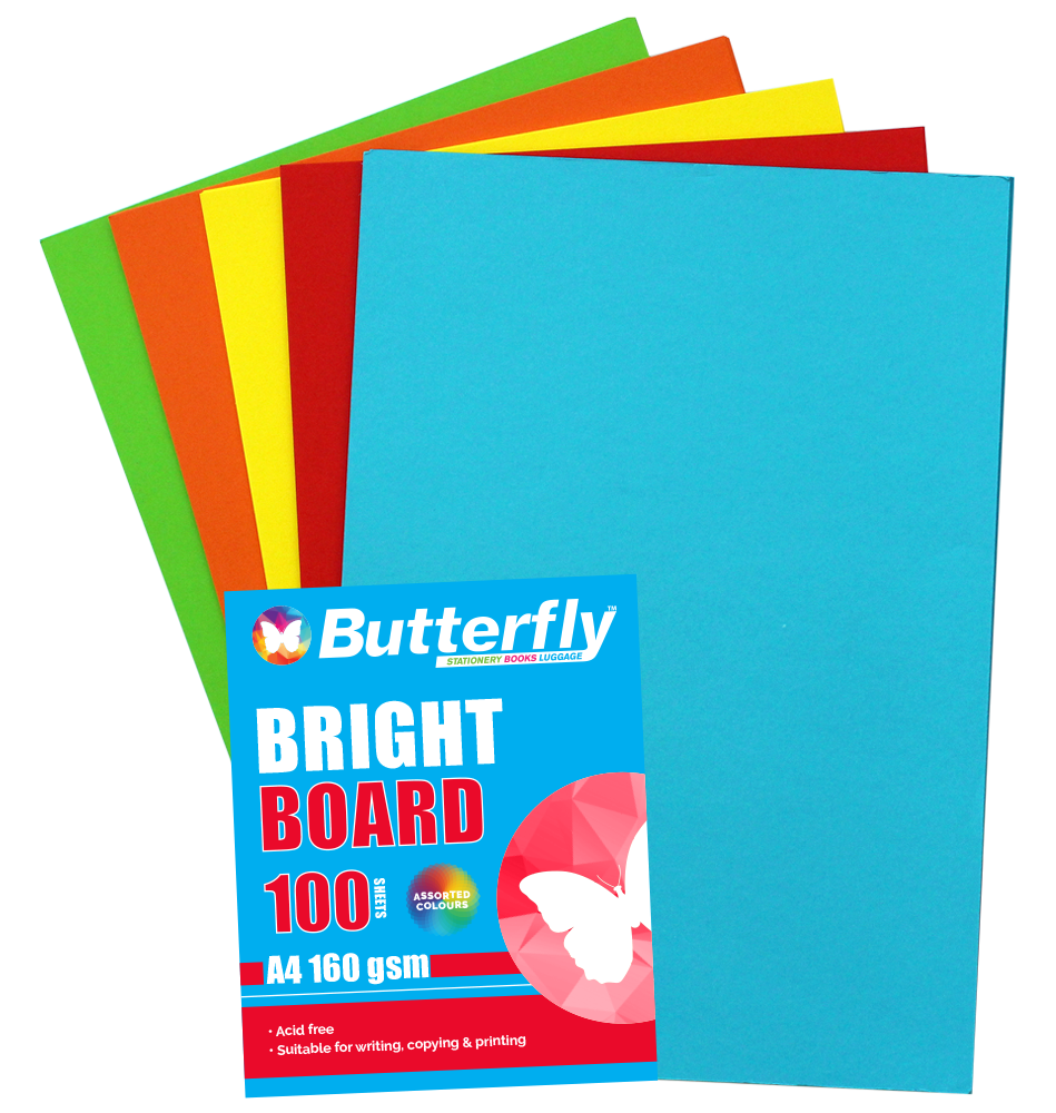Assorted A4 Bright Board - Pack of 100