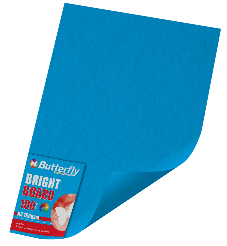 A3 Bright Board - Pack of 100 Blue