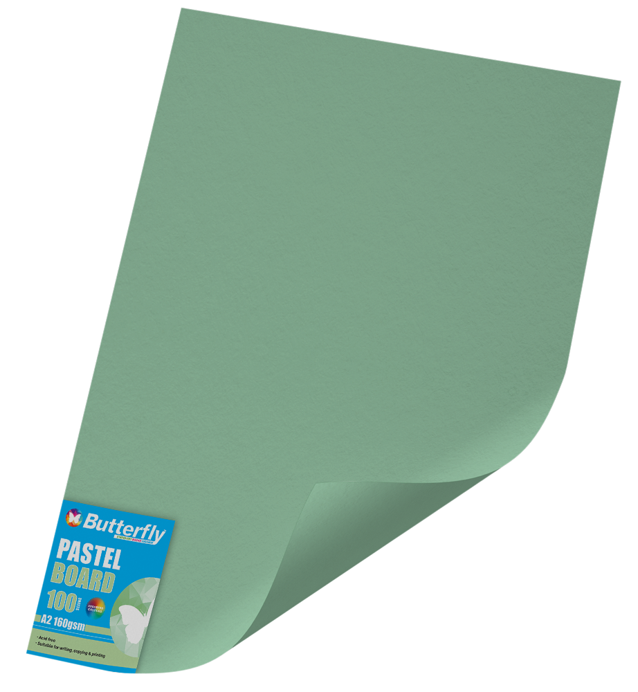 A2 Pastel Board - Pack of 100 Green