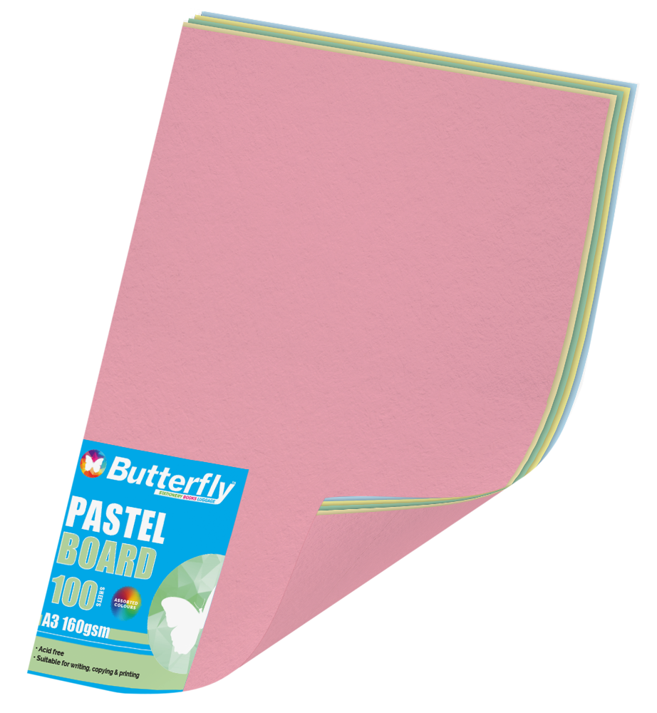 Assorted A3 Pastel Board - Pack of 100