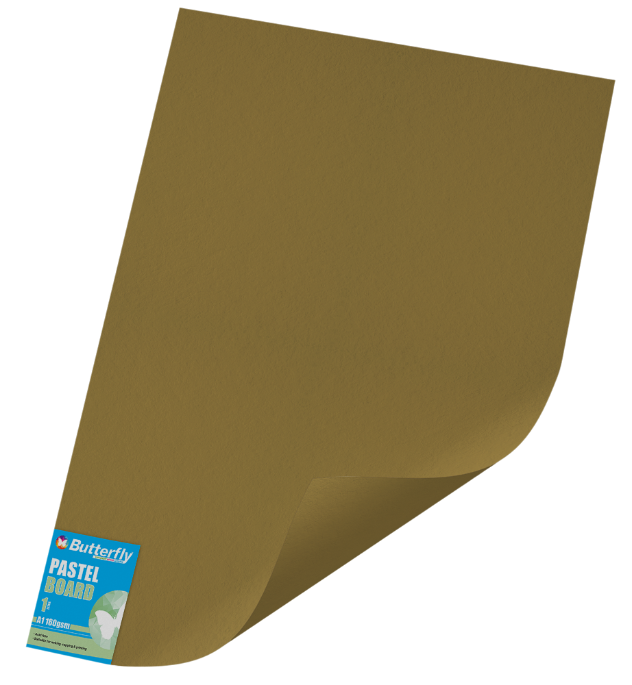 A1 Pastel Board - 160gsm Single Unwrapped Gold