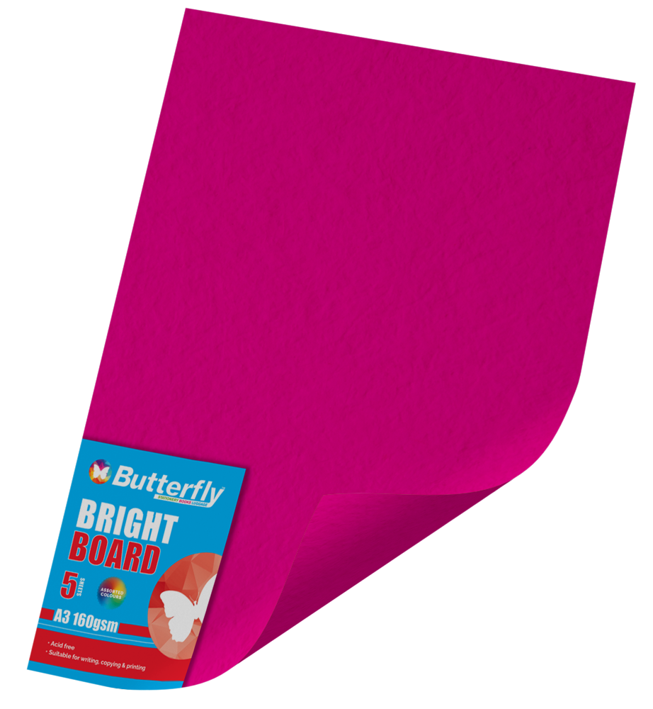 A3 Bright Board - Pack of 5 Pink