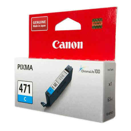 Canon CLI-471 Cyan Ink Cartridge - MG5740, MG7740 = 304 pages