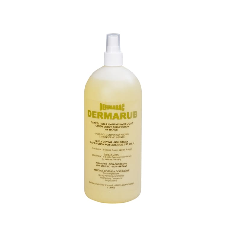 Hand sanitising - Dermarub- 70% Ethanol - 8 x 1L (top up)