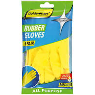 GOLDENMARC RUBBER GLOVES MEDIUM