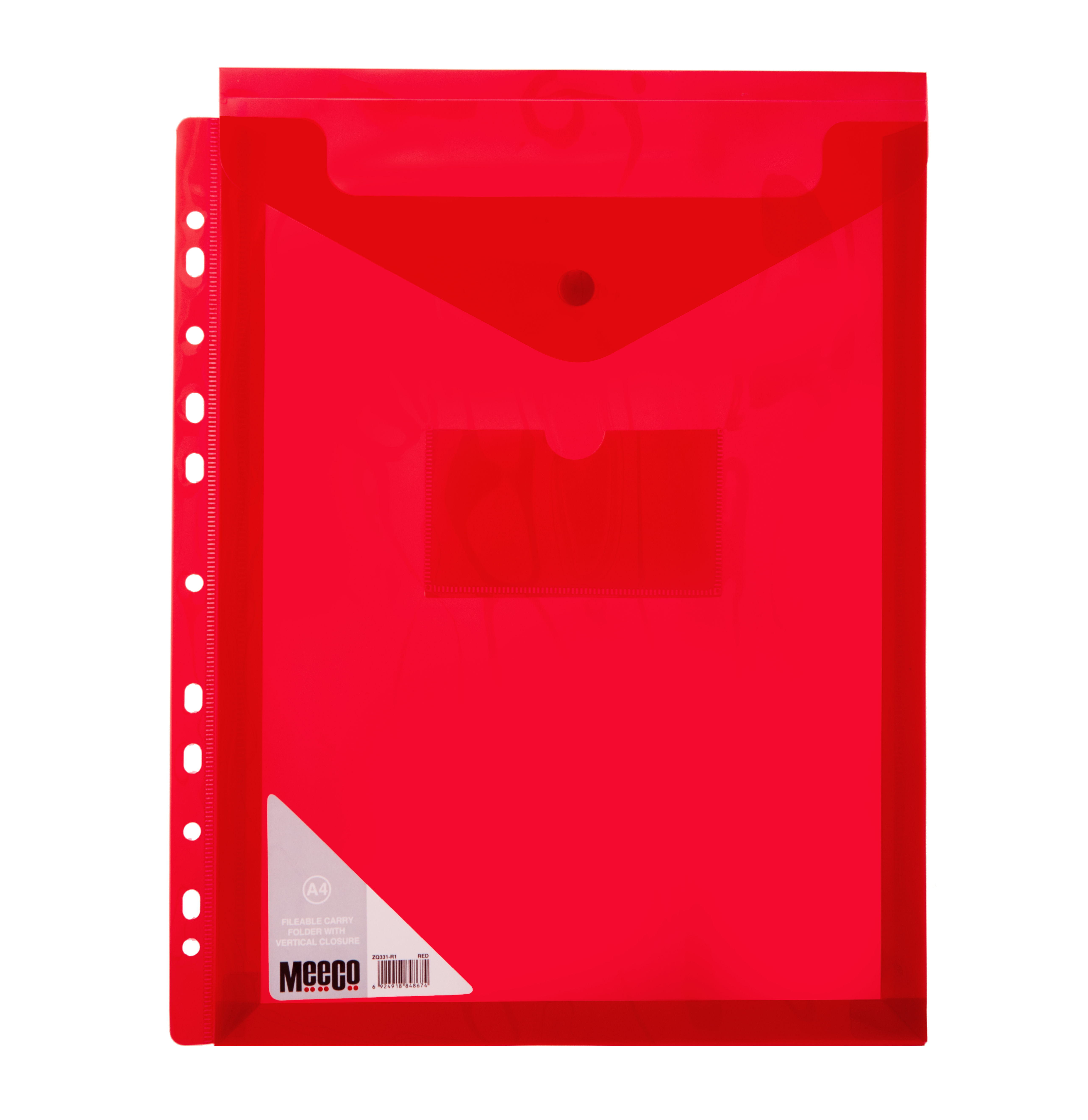 VERTICLE FILABLE CARRY FOLDER A4 RED Pack 5