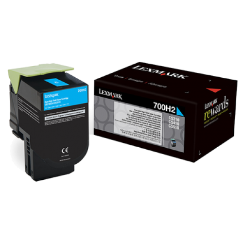 LEXMARK 700H2 CYAN HIGH YIELD TONER CARTRIDGE