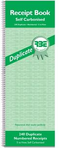 RBE Self Carbonised Duplicate numbered receipts