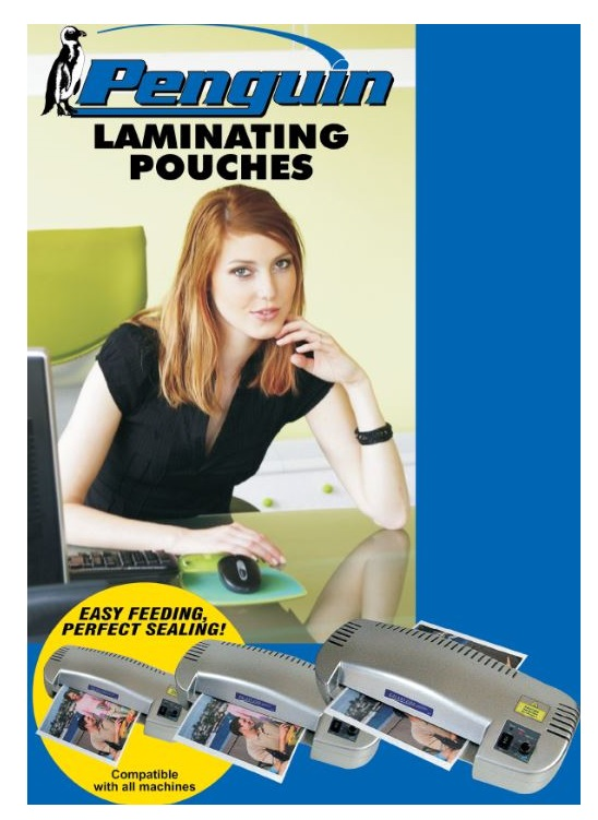 Penguin A4 Laminating Pouches 250 Micron Gloss