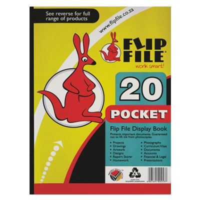 Flip File A5 20 Page Kangaroo
