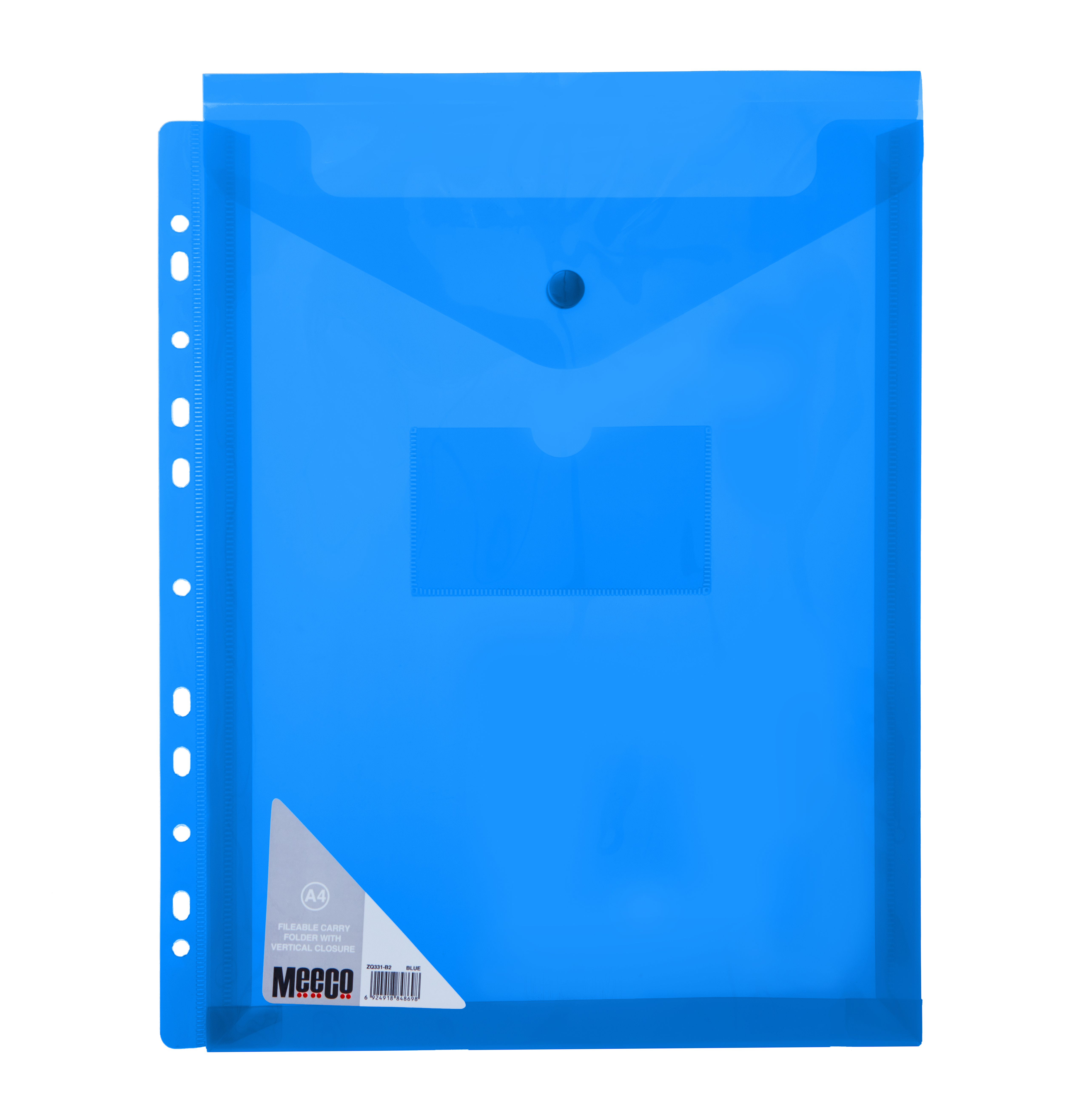 VERTICLE FILABLE CARRY FOLDER A4 BLUE Pack 5