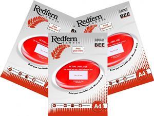 Redfern Laser Label 64mmx33.9mm Jet Red