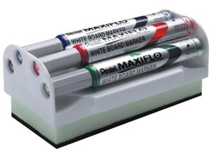 Pentel MWL5SM4M Maxiflo Whiteboard 4 Col + Mag.Duster