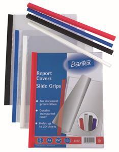 Bantex A4 3mm Slide Grips Blue