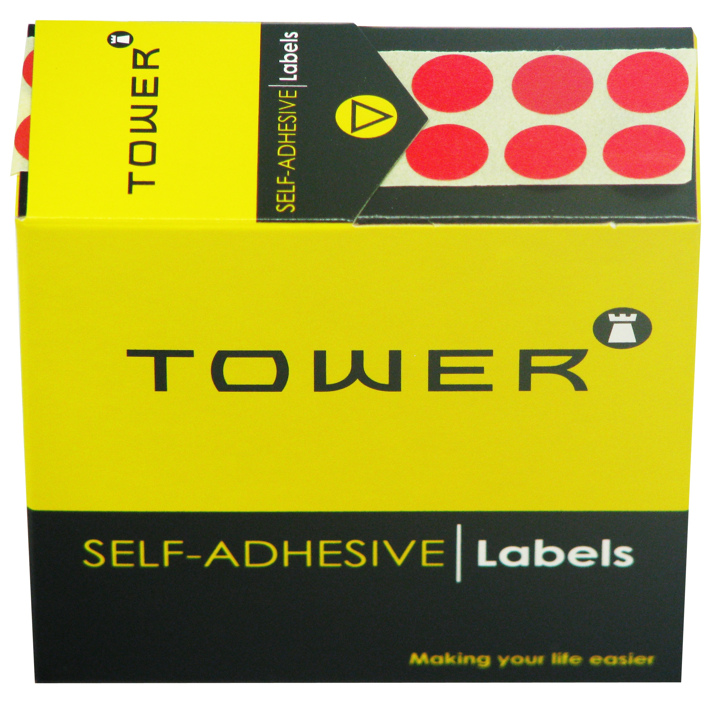 Tower C10 Label Red