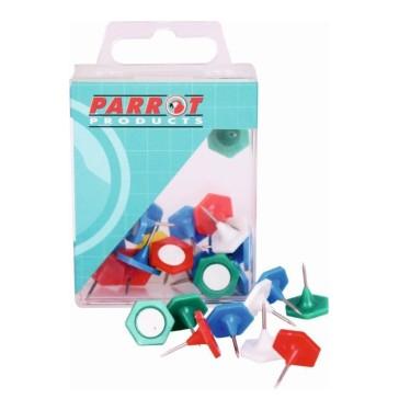 Parrot Hexagonal Pins Boxed 30 Assorted