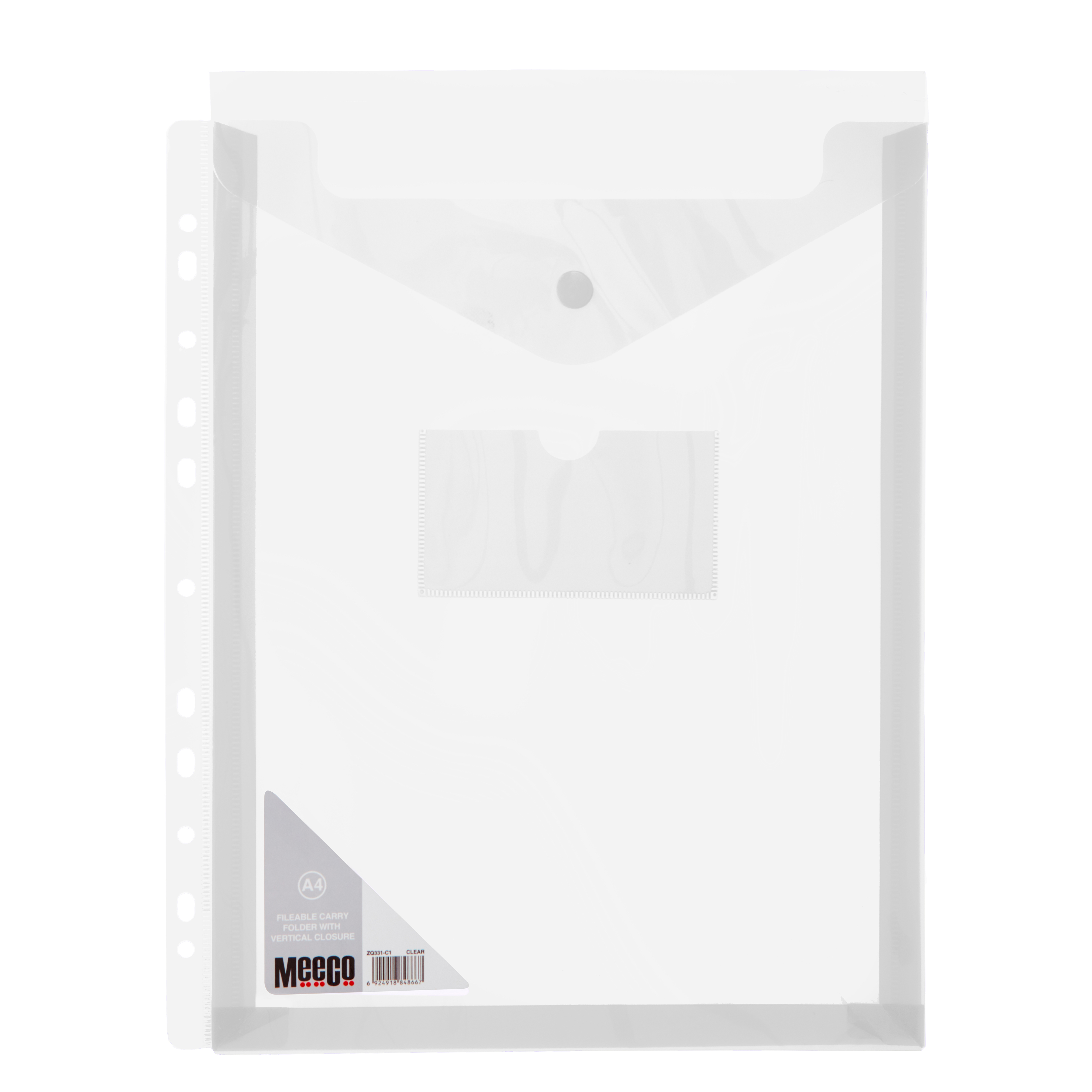 VERTICLE FILABLE CARRY FOLDER A4 CLEAR Pack 5