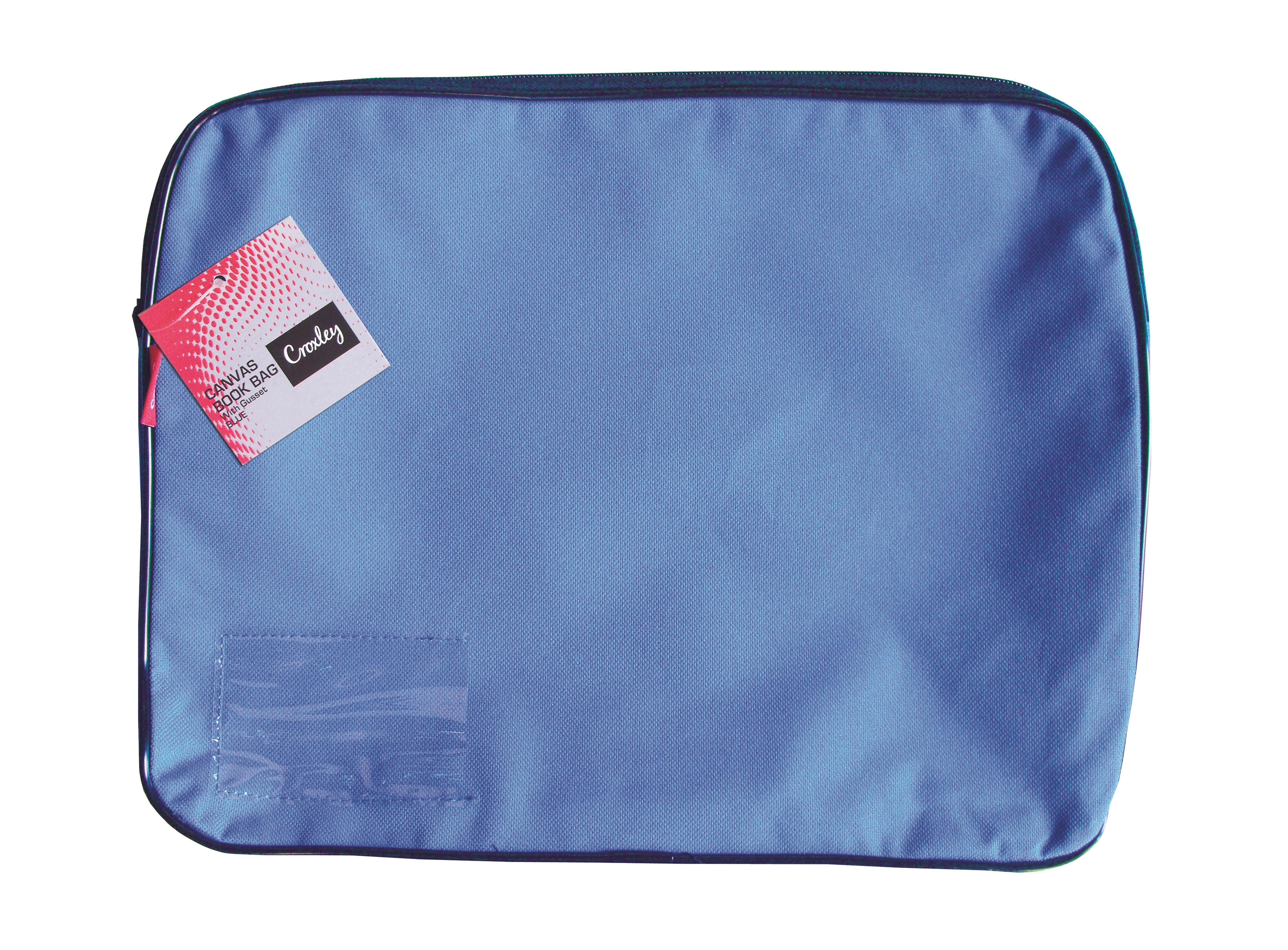 Croxley Canvas Gusset Book Bag Blue