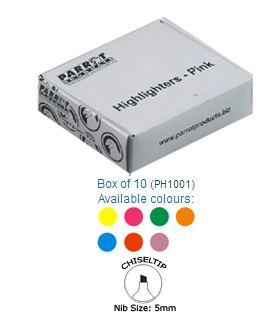 Parrot Marker Highlighter Box 10 Yellow