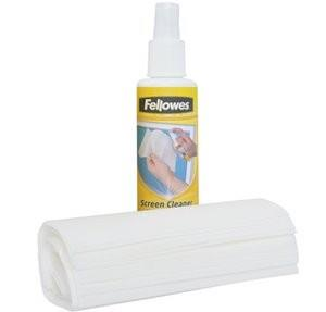 Fellowes Screen Clean 125ML+Wipes