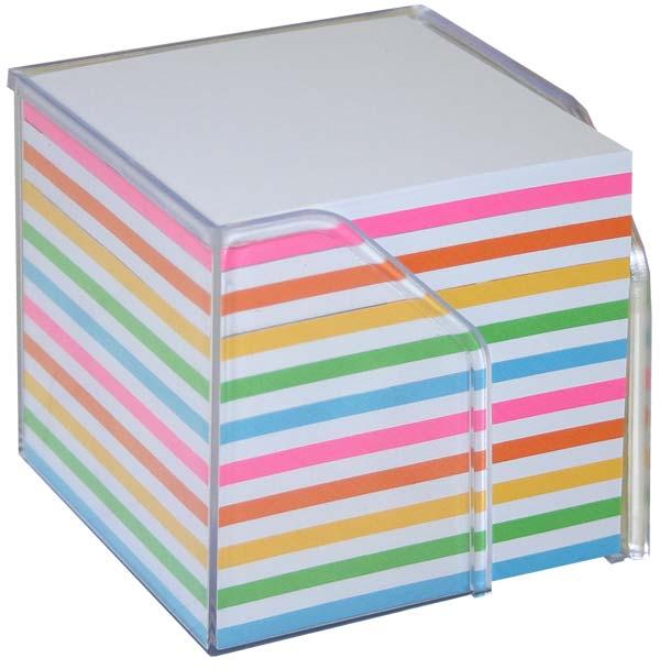Bantex Memo Cube Full Rainbow Paper