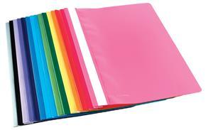 A4 Dk-Blue Quotation Folder Clear Front
