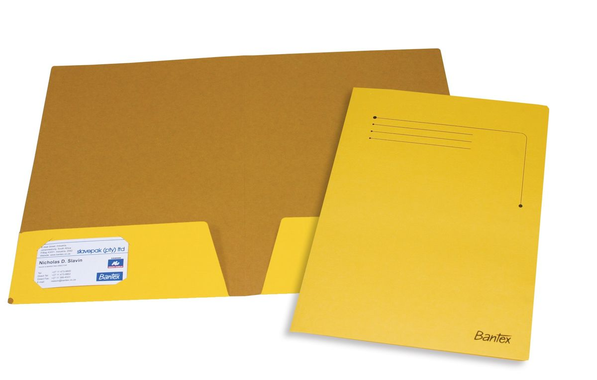 Bantex Presentation Folder A4 Yellow