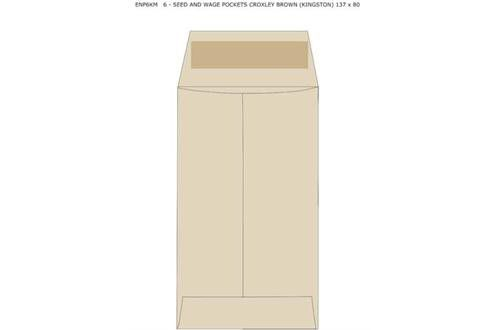 No.6 - Seed And Wage Pockets Croxley Brown (Kingstone) 137x80
