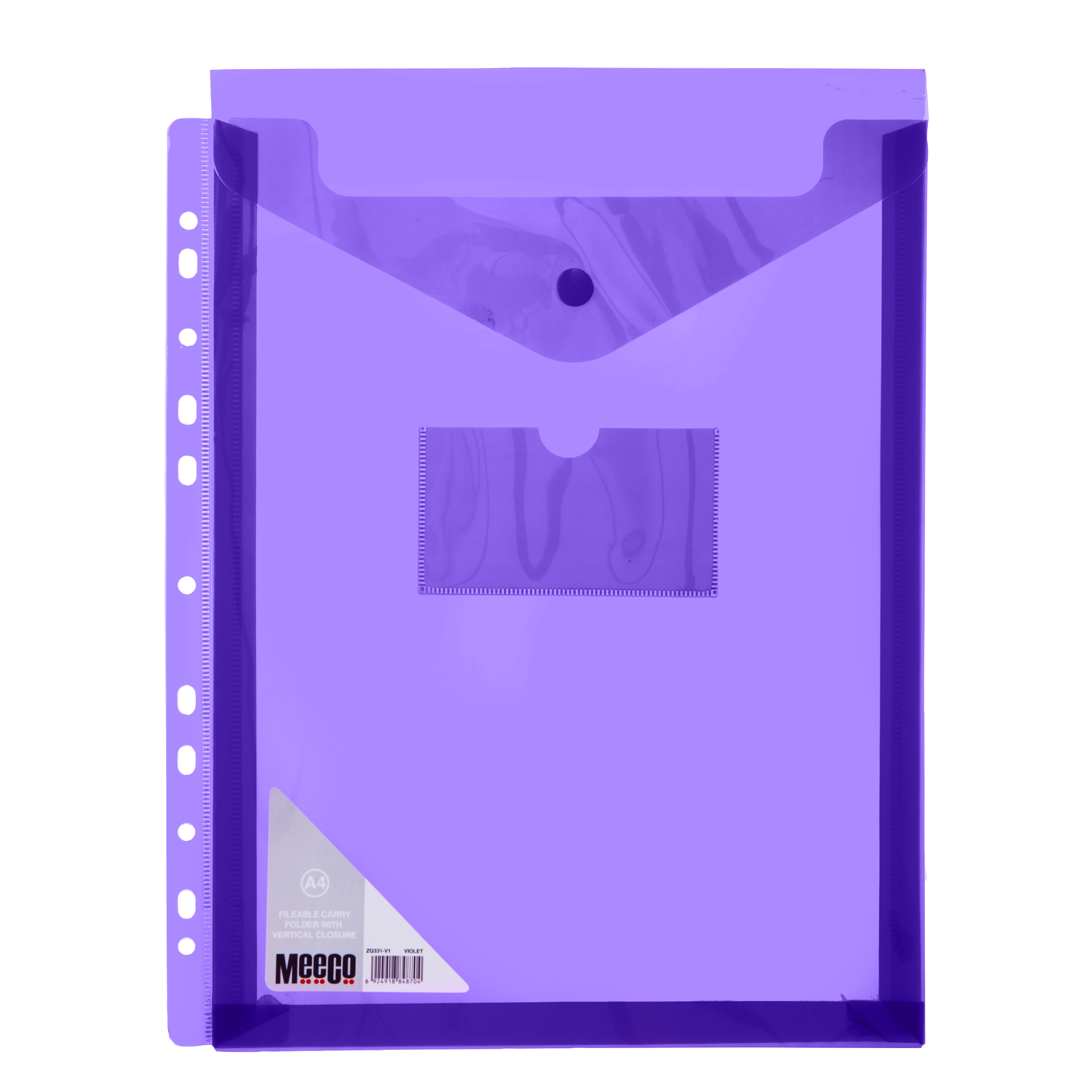 VERTICLE FILABLE CARRY FOLDER A4 VIOLET Pack 5